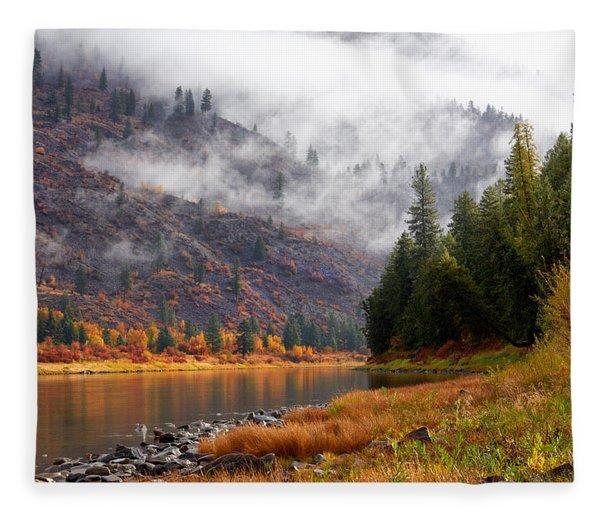 Misty Montana Morning Fleece Blanket