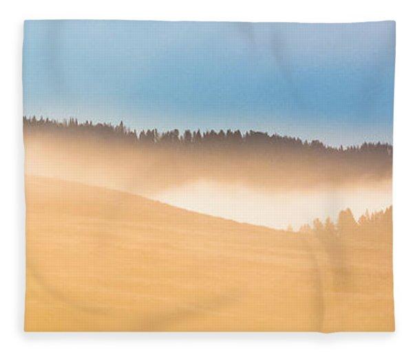 Misty Yellowstone   Fleece Blanket