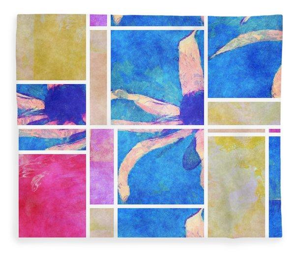 Mondrianity - Daisies 0111 Fleece Blanket