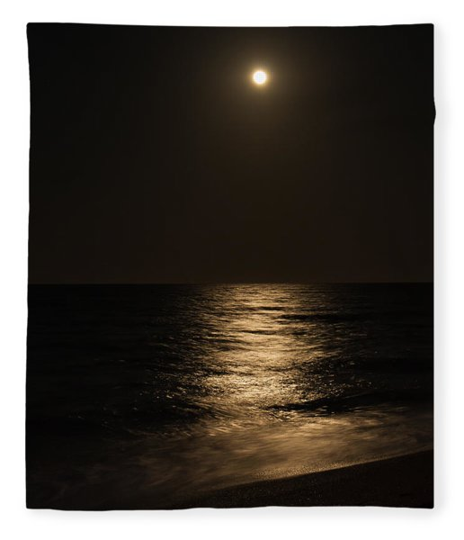 Moon Over Water Fleece Blanket