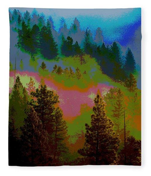Morning Arrives In The Pacific Northwest Fleece Blanket