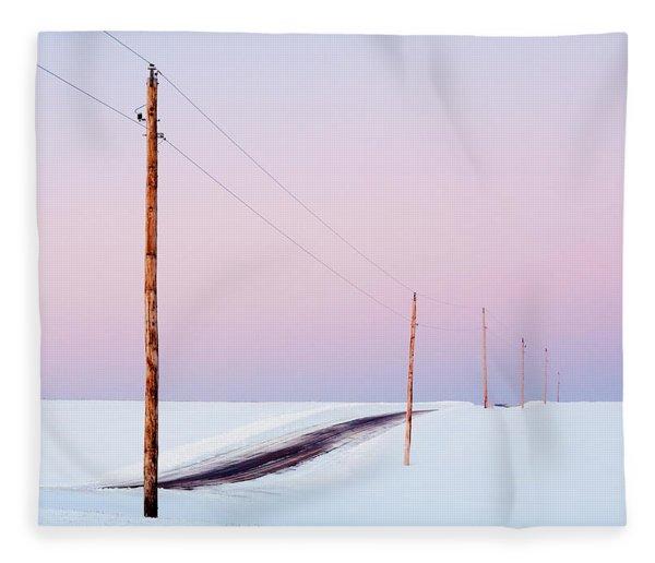 Morning Road Fleece Blanket