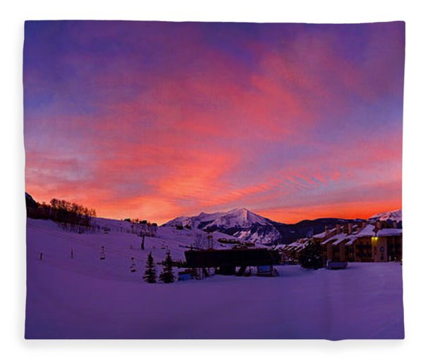 Fleece Blanket featuring the photograph Mount Crested Butte 2 by Raymond Salani III