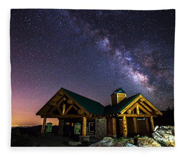 Mount Evans Visitor Cabin Fleece Blanket