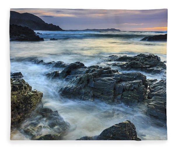 Mourillar Beach Galicia Spain Fleece Blanket