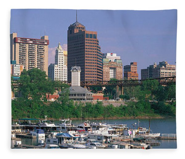 Mud Island Marina Skyline Memphis Tn Fleece Blanket