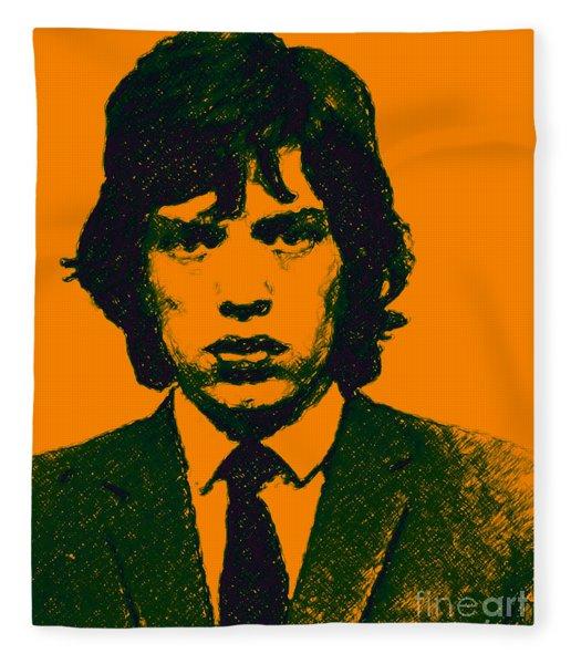 Mugshot Mick Jagger P0 Fleece Blanket
