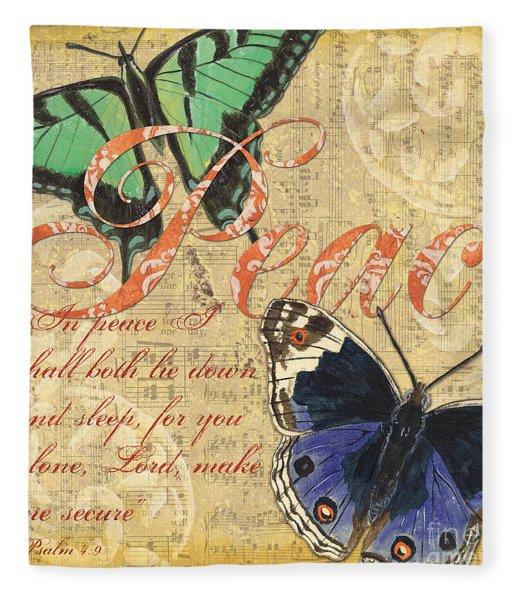 Musical Butterflies 2 Fleece Blanket