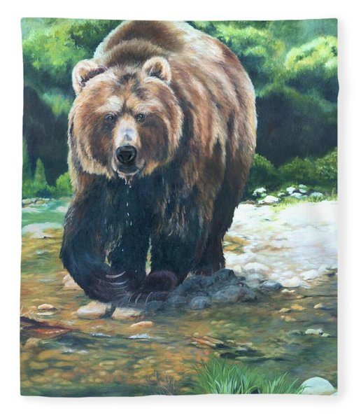 My Bear Of A Painting Fleece Blanket