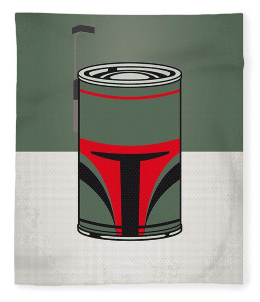 My Star Warhols Boba Fett Minimal Can Poster Fleece Blanket