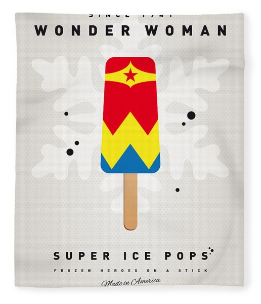 My Superhero Ice Pop - Wonder Woman Fleece Blanket