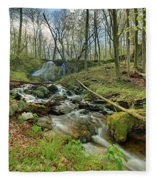 Naked Creek Falls Fleece Blanket