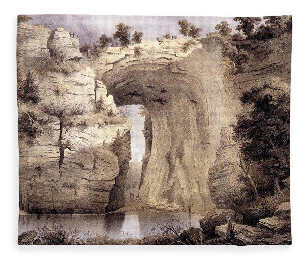 Natural Bridge, Rockbridge County Fleece Blanket