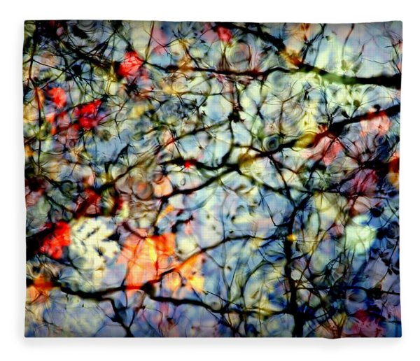 Natures Stained Glass Fleece Blanket