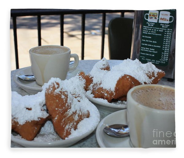 New Orleans Breakfast Fleece Blanket