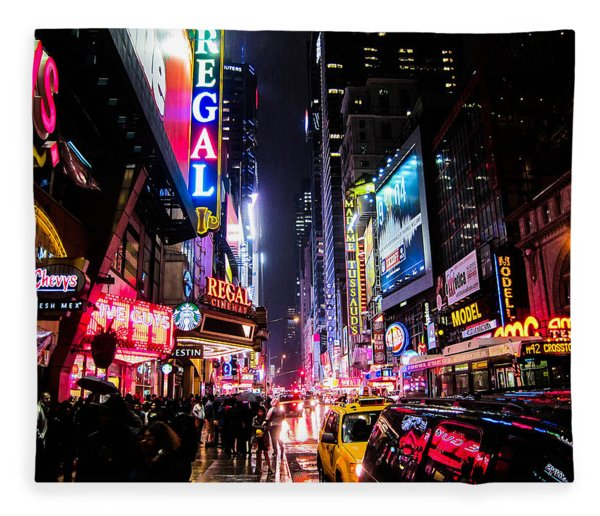 New York City Night Fleece Blanket