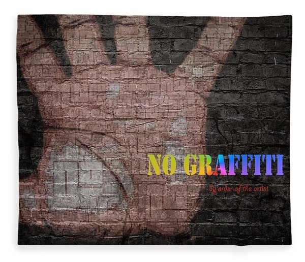 Fleece Blanket featuring the digital art No Graffiti by ISAW Company