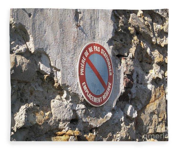 No Parking Fleece Blanket