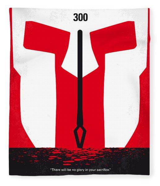 No001 My 300 Minimal Movie Poster Fleece Blanket
