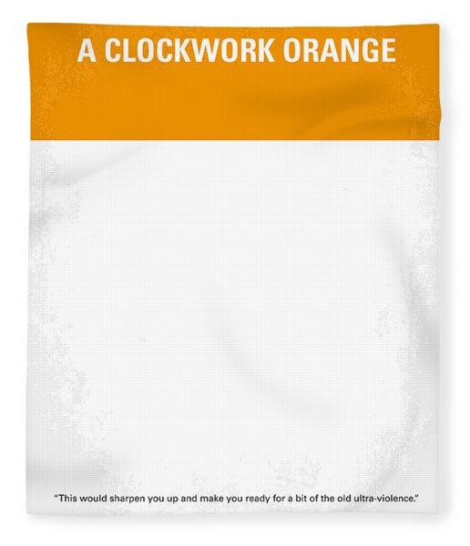 No002 My A Clockwork Orange Minimal Movie Poster Fleece Blanket
