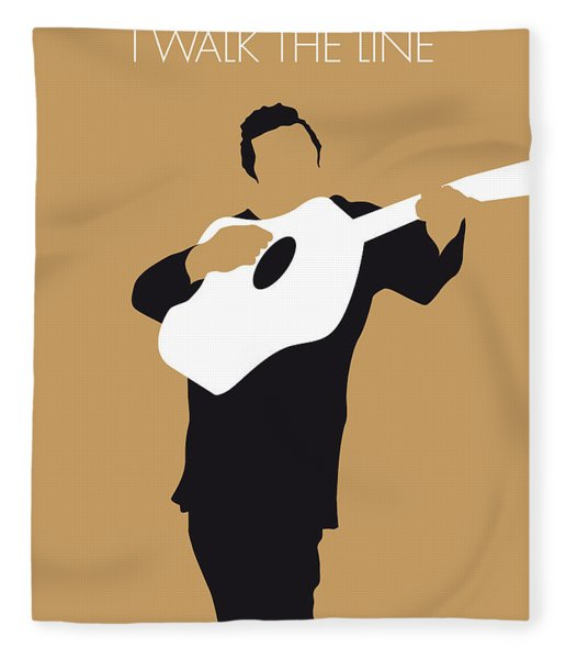 No010 My Johnny Cash Minimal Music Poster Fleece Blanket