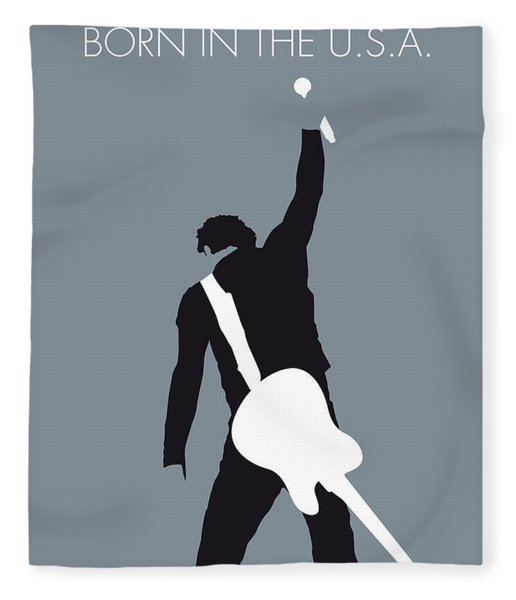 No017 My Bruce Springsteen Minimal Music Poster Fleece Blanket