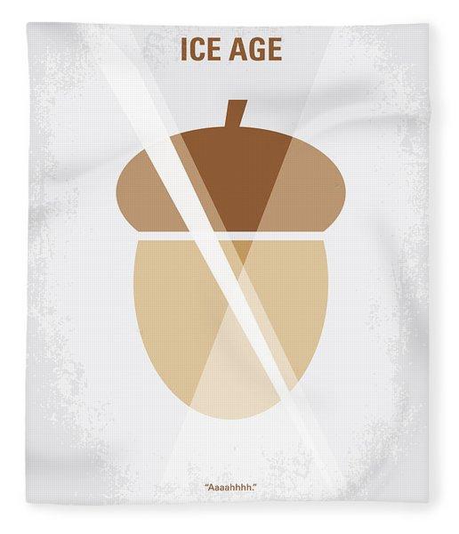 No041 My Ice Age Minimal Movie Poster Fleece Blanket