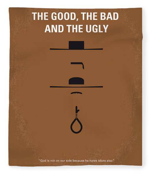 No090 My The Good The Bad The Ugly Minimal Movie Poster Fleece Blanket