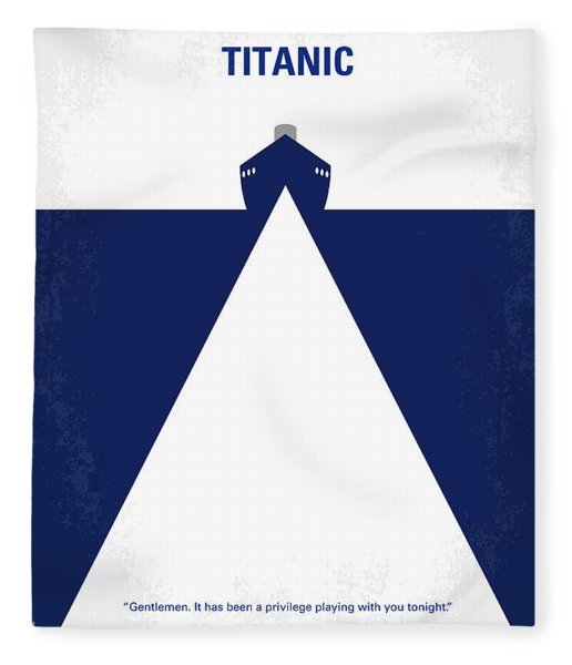 No100 My Titanic Minimal Movie Poster Fleece Blanket