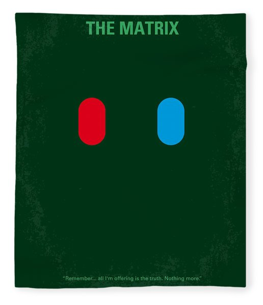No117 My Matrix Minimal Movie Poster Fleece Blanket