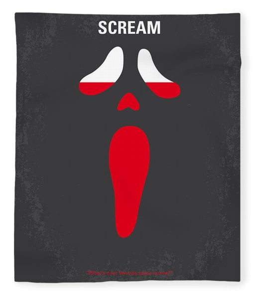 No121 My Scream Minimal Movie Poster Fleece Blanket