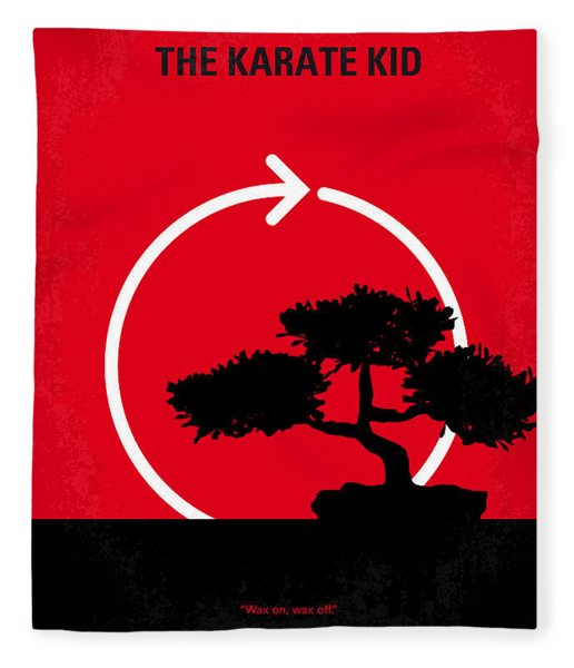 No125 My Karate Kid Minimal Movie Poster Fleece Blanket