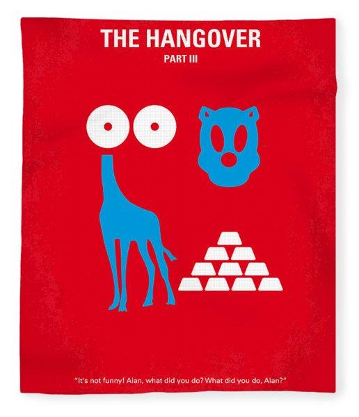No145 My The Hangover Part 3 Minimal Movie Poster Fleece Blanket