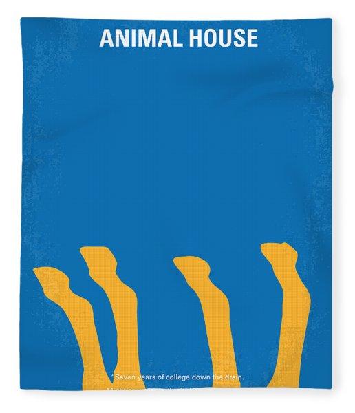 No230 My Animal House Minimal Movie Poster Fleece Blanket