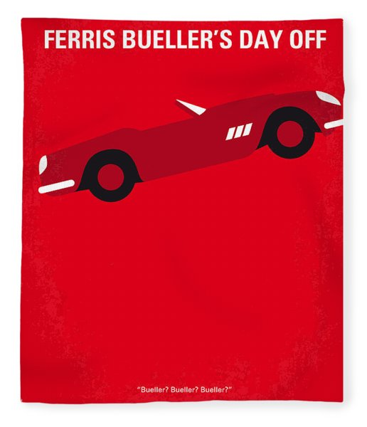 No292 My Ferris Bueller's Day Off Minimal Movie Poster Fleece Blanket
