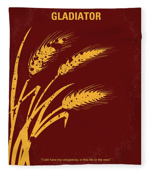 No300 My Gladiator Minimal Movie Poster Fleece Blanket