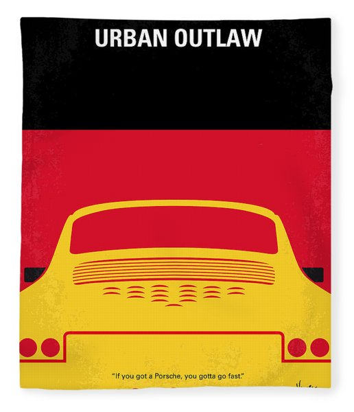 No316 My Urban Outlaw Minimal Movie Poster Fleece Blanket