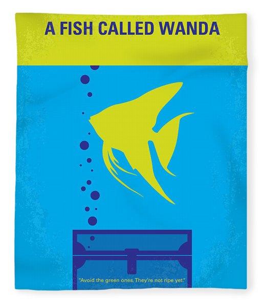 No389 My A Fish Called Wanda Minimal Movie Poster Fleece Blanket