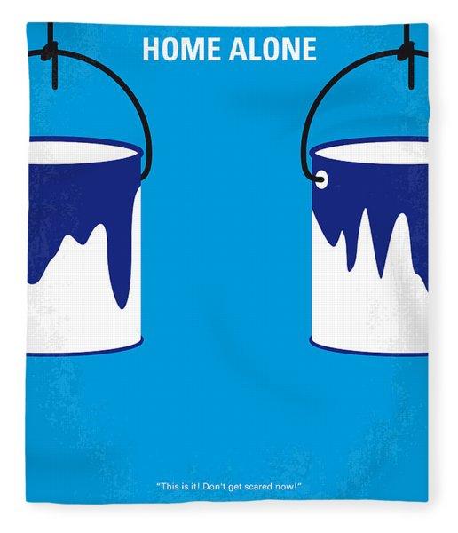 No427 My Home Alone Minimal Movie Poster Fleece Blanket