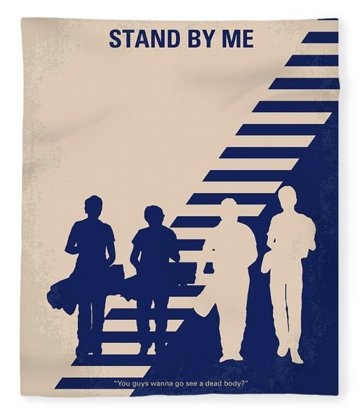 No429 My Stand By Me Minimal Movie Poster Fleece Blanket