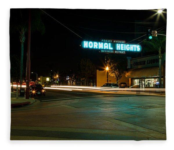 Normal Heights Neon Fleece Blanket