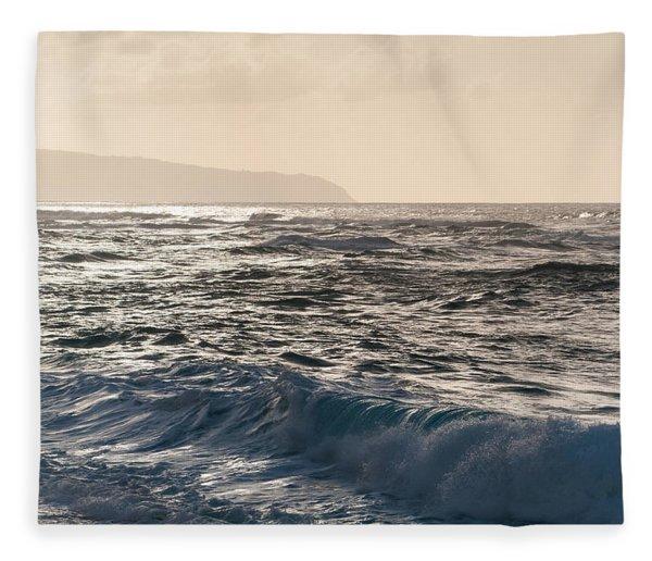 North Shore Waves Fleece Blanket