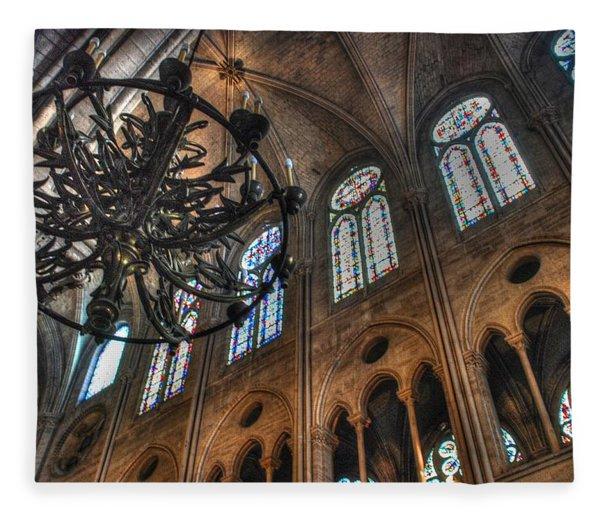 Notre Dame Interior Fleece Blanket