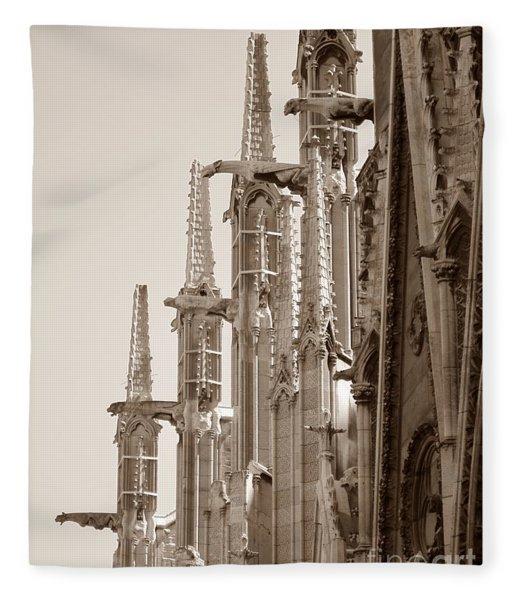 Notre Dame Sentries Sepia Fleece Blanket