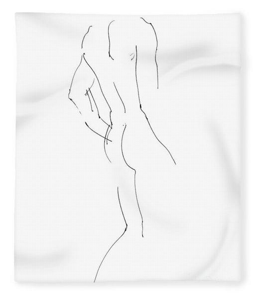 Nude Male Drawings 2 Fleece Blanket