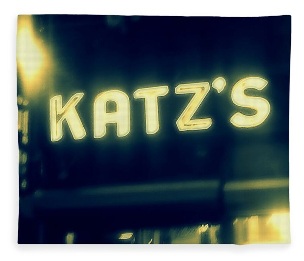 Nyc's Famous Katz's Deli Fleece Blanket