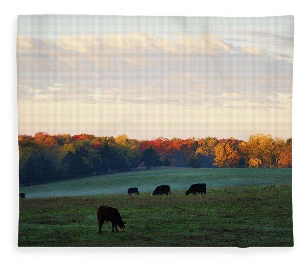 October Morning Fleece Blanket