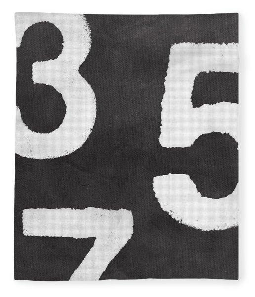 Odd Numbers Fleece Blanket