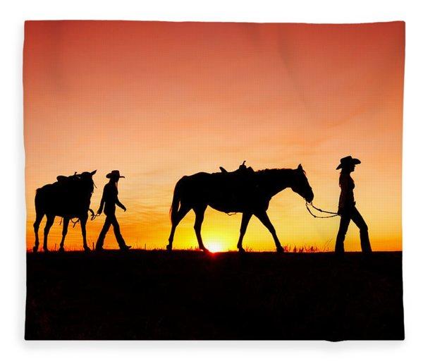 Off To The Barn Fleece Blanket