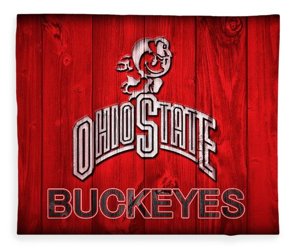 Ohio State Buckeyes Barn Door Vignette Fleece Blanket